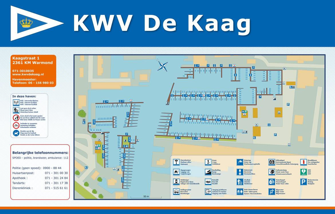 Informatiebord haven Oost en West